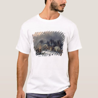 Scene from the Russian-French War in 1812 T-Shirt