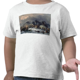 Scene from the Russian-French War in 1812 Tshirts