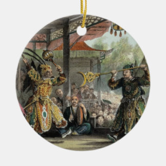 Scene from the Spectacle of The Sun and Moon fr Christmas Tree Ornaments