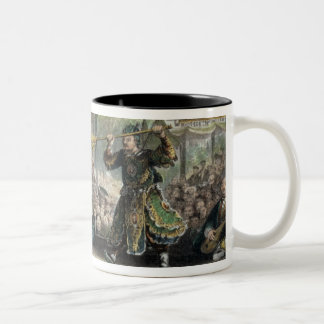 Scene from the Spectacle of 'The Sun and Moon', fr Two-Tone Coffee Mug
