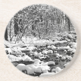 Scene Icy Cold River Ontario Coasters