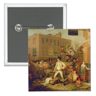 Scene in a London Street 1770 oil on canvas Pins