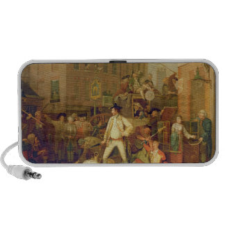 Scene in a London Street, 1770 (oil on canvas) iPod Speaker