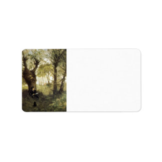 Scene in Auvers by Berthe Morisot Personalized Address Labels