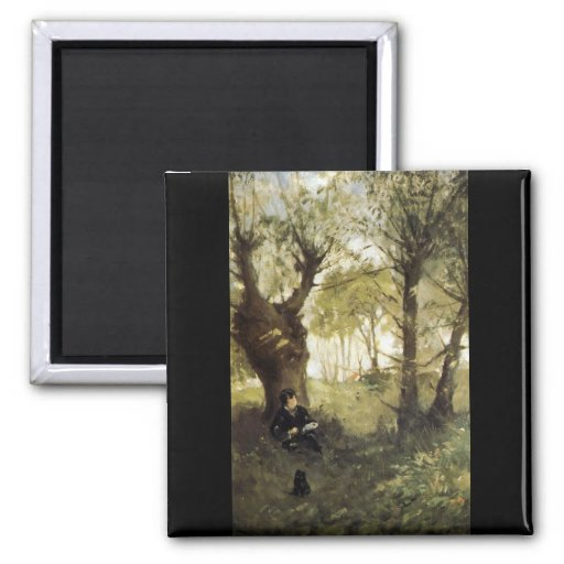 Scene in Auvers by Berthe Morisot Refrigerator Magnet