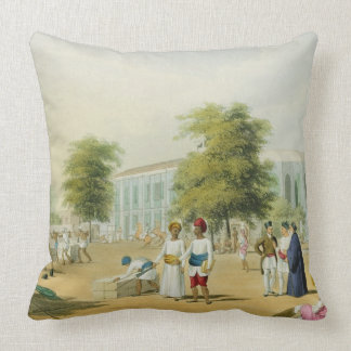 Scene in Bombay, from Volume I of 'Scenery, Costum Throw Pillow