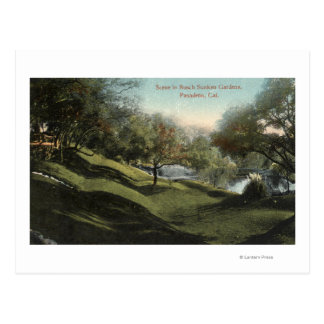 Scene in Busch Sunken Gardens Postcard