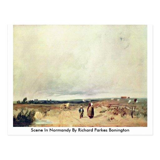 Scene In Normandy By Richard Parkes Bonington Postcard