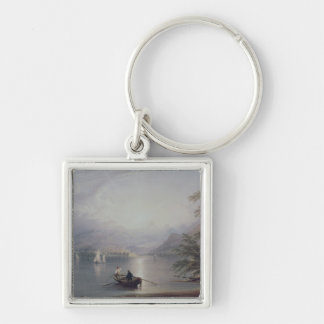 Scene in the English Lake District Silver-Colored Square Keychain