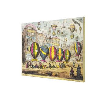 Scene in the Farce 'Lofty Prospects' Canvas Print