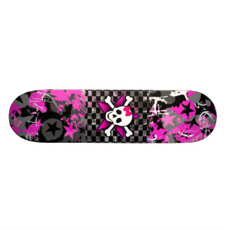 Scene Kid Girly Skull Skateboard Deck