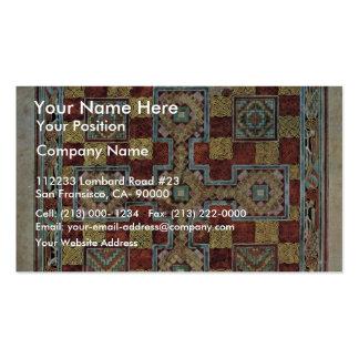 Scene Lindisfarne Gospels: Carpet Page By Meister Business Card Templates