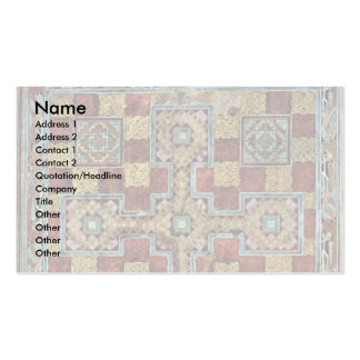 Scene Lindisfarne Gospels: Carpet Page By Meister Business Card Template