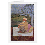 Scene: Maulvi In Meditation By Indian Painter Cards
