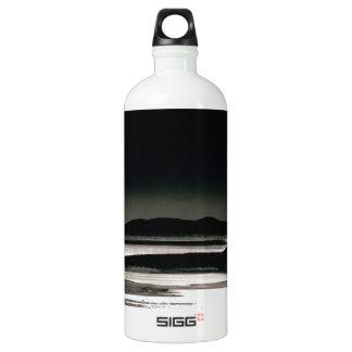 Scene Moonrise Negit Island Aluminum Water Bottle