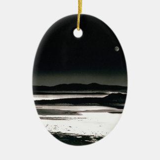Scene Moonrise Negit Island Ceramic Ornament