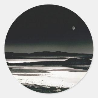 Scene Moonrise Negit Island Classic Round Sticker