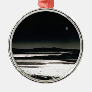 Scene Moonrise Negit Island Metal Ornament