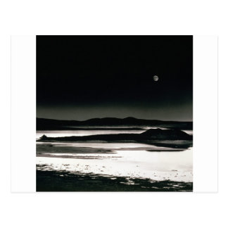Scene Moonrise Negit Island Postcard