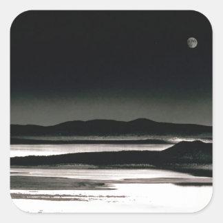 Scene Moonrise Negit Island Square Sticker
