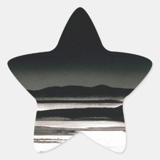 Scene Moonrise Negit Island Star Sticker