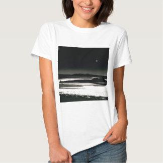 Scene Moonrise Negit Island T-shirt