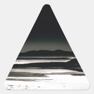 Scene Moonrise Negit Island Triangle Sticker