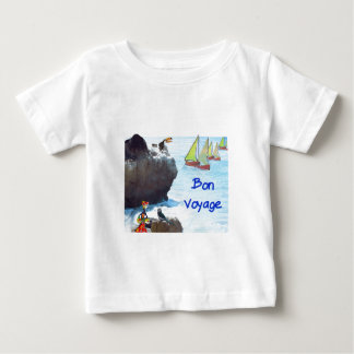 Scene of a distant place with boats and fauna baby T-Shirt