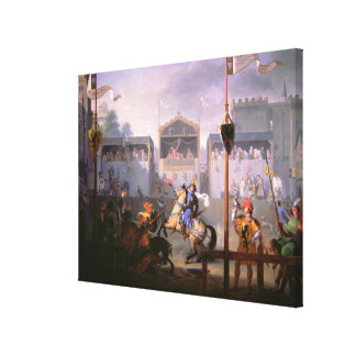 Scene of a Tournament in the Fourteenth Century, 1 Canvas Print