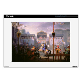 """Scene of a Tournament in the Fourteenth Century, 1 Decal For 15"""" Laptop"""