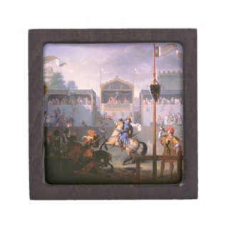 Scene of a Tournament in the Fourteenth Century, 1 Gift Box