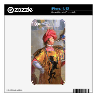 Scene of a Tournament in the Fourteenth Century, d Decal For iPhone 4
