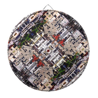 Scene of City Structures Dartboard