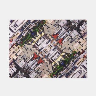 Scene of City Structures Doormat