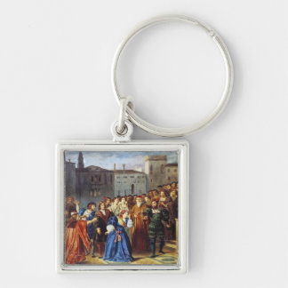 Scene of Confrontation Keychain