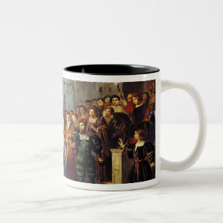 Scene of Confrontation Two-Tone Coffee Mug