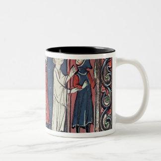 Scene of excommunication Two-Tone coffee mug