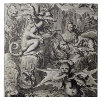 Scene of Hell, illustration from Book 1 Part 3 Cha Tile