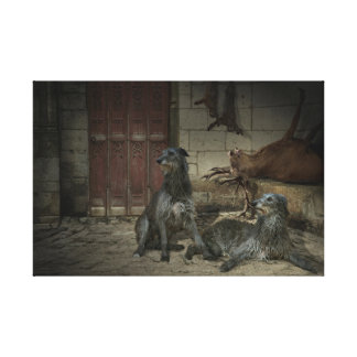 Scene of hunting: the spoils (share. 3) canvas print
