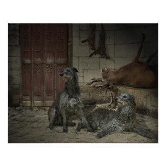 Scene of hunting: the spoils (share. 3) photo print
