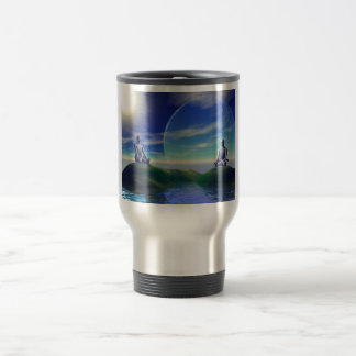 Scene of meditation travel mug
