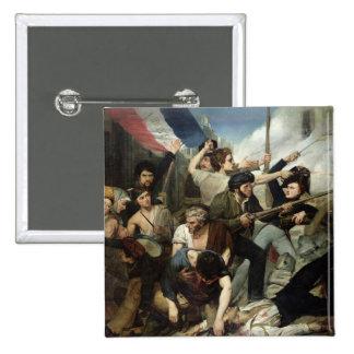Scene of the 1830 Revolution Button