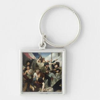 Scene of the 1830 Revolution Keychain