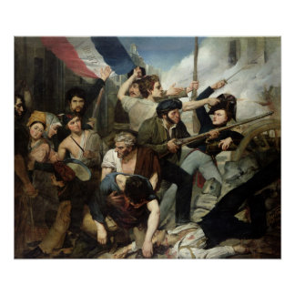 Scene of the 1830 Revolution Poster