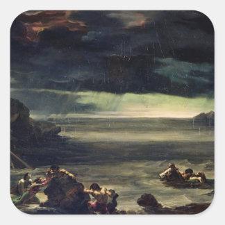 Scene of the Deluge, 1818-20 Square Sticker