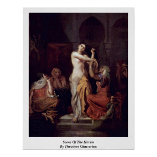 Scene Of The Harem By Theodore Chasseriau Poster