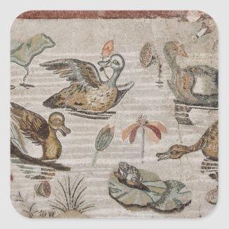 Scene of waterfowl on the Nile, House of Faun Square Stickers