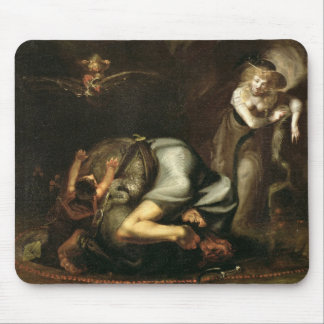 Scene of Witches from 'The Masque of Queens' by Be Mouse Pad