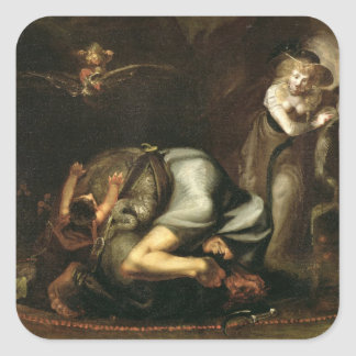 Scene of Witches from 'The Masque of Queens' by Be Square Sticker