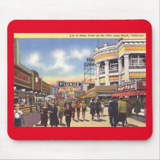 Scene on the Pike, Long Beach, California Vintage Mouse Pad
